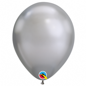 Chrome Balloons - 7 Inch Silver Chrome Balloons (100pcs) | Free Delivery Available